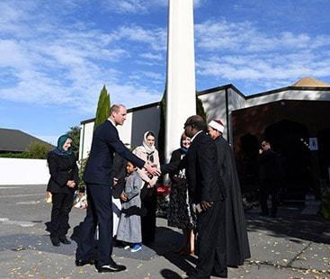 برطانوی شہزادہ ولیم کا سانحہ کرائسٹ چرچ کی متاثرہ مسجد کا دورہ