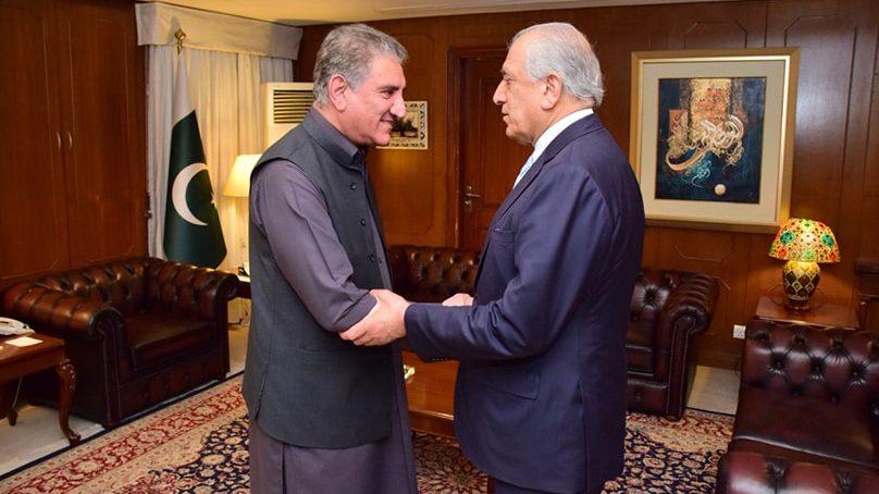زلمے خلیل پاکستان پہنچ گئے، شاہ محمود قریشی سے ملاقات