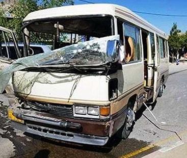 افغان فوجیوں کی بس کے نزدیک دھماکا ، 10 اہلکار ہلاک