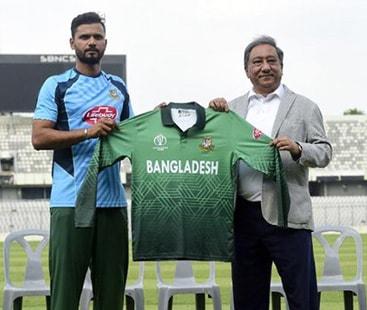 ورلڈکپ 2019، بنگلہ دیش نے پاکستان جیسی جرسی بنالی