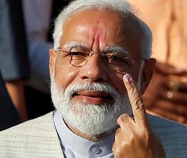 بھارت کےعام انتخابات:  ایگزٹ پولز میں بی جے پی کی جیت کا امکان