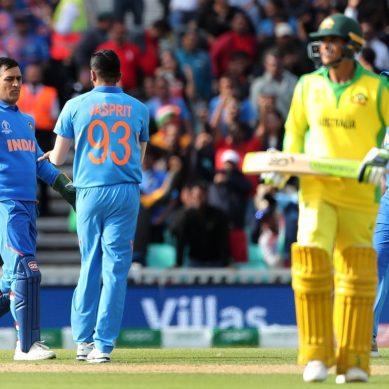 ورلڈ کپ 2019ء: بھارت نے آسٹریلیا کو 36 رنز سے شکست دیدی