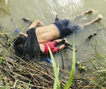 میکسیکو کے پناہ گزین باپ بیٹی کی دل دہلا دینے والی تصویر
