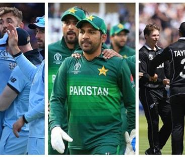 ورلڈکپ سیمی فائنل کیلئے پاکستان، نیوزی لینڈ اور انگلینڈ کے درمیان مقابلہ