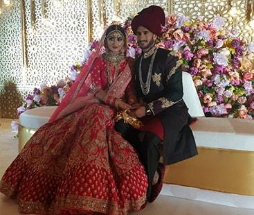 حسن علی بھارتی دوشیزہ کے ساتھ شادی کے بندھن میں بندھ گئے