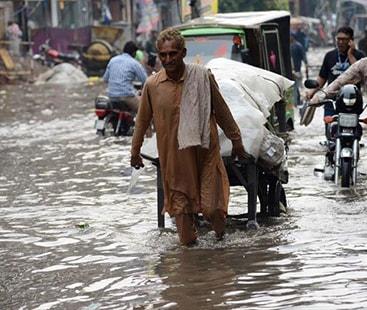 جڑواں شہروں میں طوفانی بارش،  خطرے کا الرٹ جاری