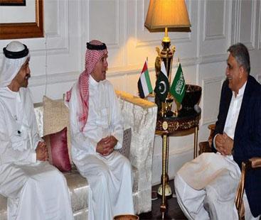 آرمی چیف سے سعودی عرب اور اماراتی وزرائے خارجہ کی ملاقات