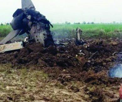 بھارتی فضائیہ کا ایک اور جنگی طیارہ گر کر تباہ