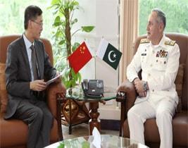 چینی سفیر یاﺅ جینگ کی پاک بحریہ کے سربراہ ایڈمرل ظفر محمود عباسی سے ملاقات