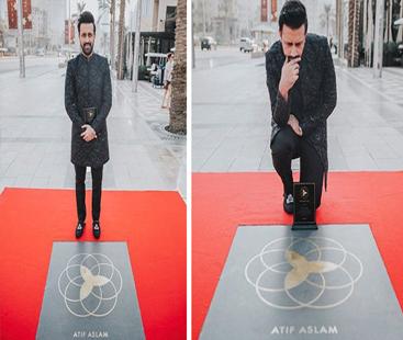 عالمی شہرت یافتہ گلوکار عاطف اسلم کے نام دبئی اسٹارایوارڈ