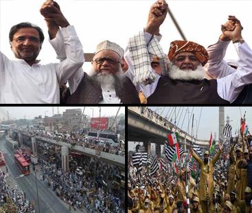 سانحہ تیز گام: اپوزیشن نے آزادی مارچ جلسہ ملتوی مولانا فضل الرحمان کی تردید