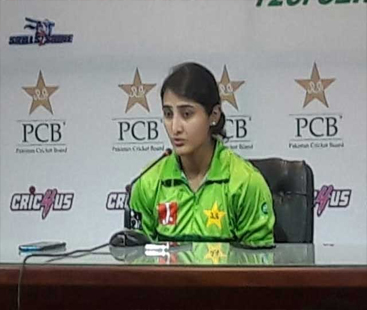 پاکستان آنے پر بنگلا دیشی ٹیم کے شکرگزار ہیں: قومی ٹیم کی کپتان بسمہ معروف