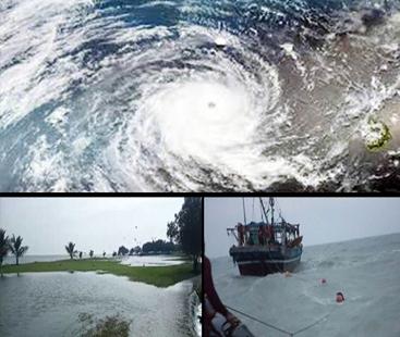 سمندری طوفان 'کیار' کی شدت میں اضافہ ، ریڑھی گوٹھ میں پانی گھروں میں داخل