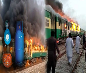 تیزگام ایکسپریس آتشزدگی:  73 مسافر جاں بحق وزیر اعظم کا تحقیقات کا حکم