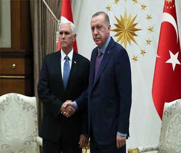 ترکی نے شام میں جنگ بندی پر اتفاق کر لیا: امریکی نائب صدر مائیک پینس