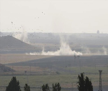 ترکی کی شام میں کرد باغیوں پر بمباری