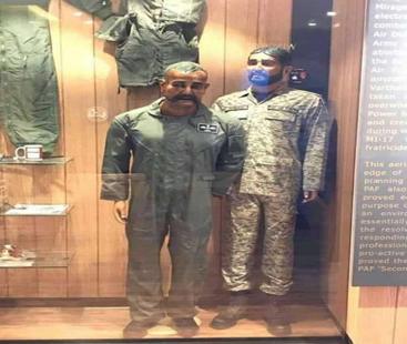 بھارتی طیارے کے ملبے اور ابھی نندن کے سامان کی پی اے ایف میوزیم میں نمائش