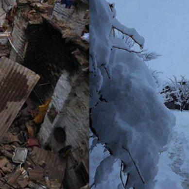 ملک کے مختلف علاقوں میں شدید بارش اور برف باری کی تباہ کاریاں جاری