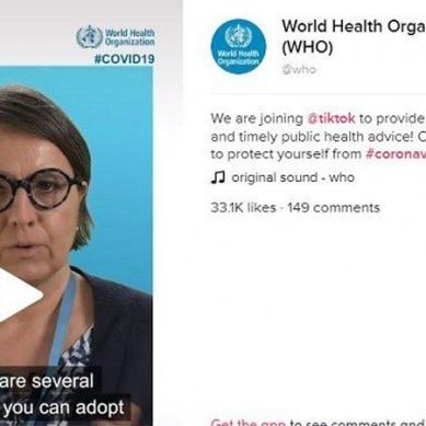 کورونا وائرس : آگاہی مہم کیلئے ڈبلیو ایچ او کا اکاؤنٹ اب ٹک ٹاک پر