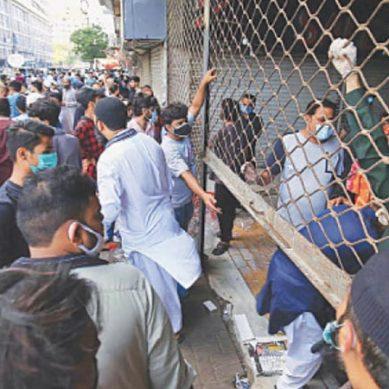 ایس او پیز کی خلاف ورزی پر کراچی کی بڑی مارکیٹیں سیل کردی گئیں