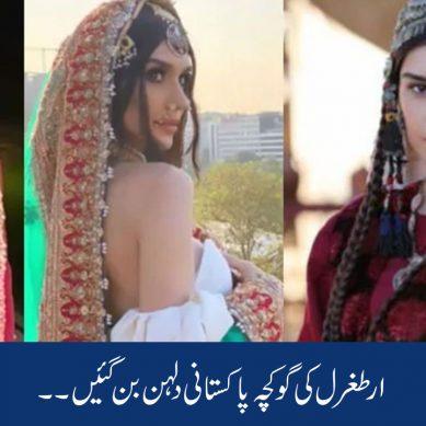 ارطغرل کی گوکچہ خاتون پاکستانی دلہن بن گئیں ۔