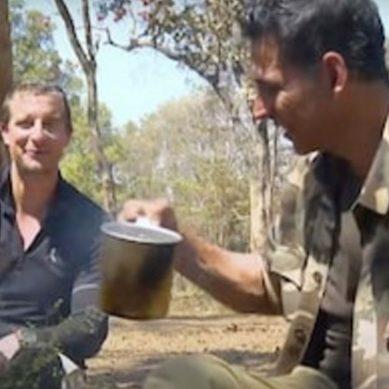 بیئرگریلز اور اکشے کمار ساتھ ساتھ، ہاتھی کے فضلے سے چائے تیار