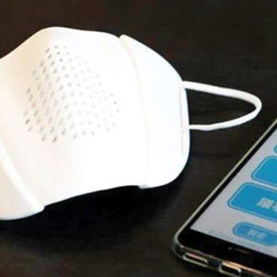 سماجی فاصلے اور گفتگو کو آسان بنانے والا فیس ماسک تیار