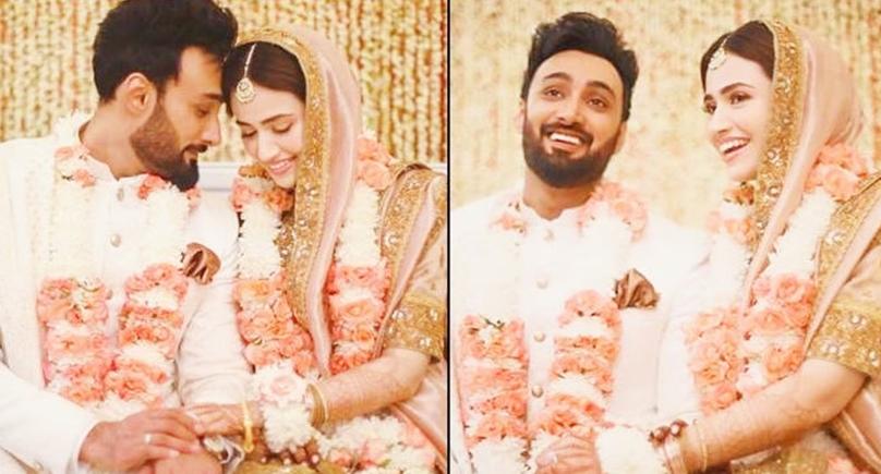خوبرو اداکارہ ثناء جاوید اور عمیر جسوال شادی کے بندھن میں بندھ گئے