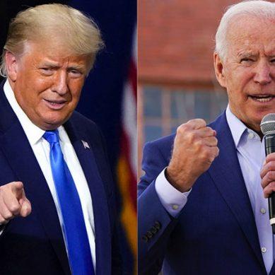 امریکی انتخابات میں جو بائیڈن برتری پر ڈونلڈ ٹرمپ پیچھے رہ گئے