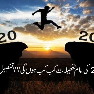 سال 2021 کی عام تعطیلات کب کب ہوں گی ؟؟؟