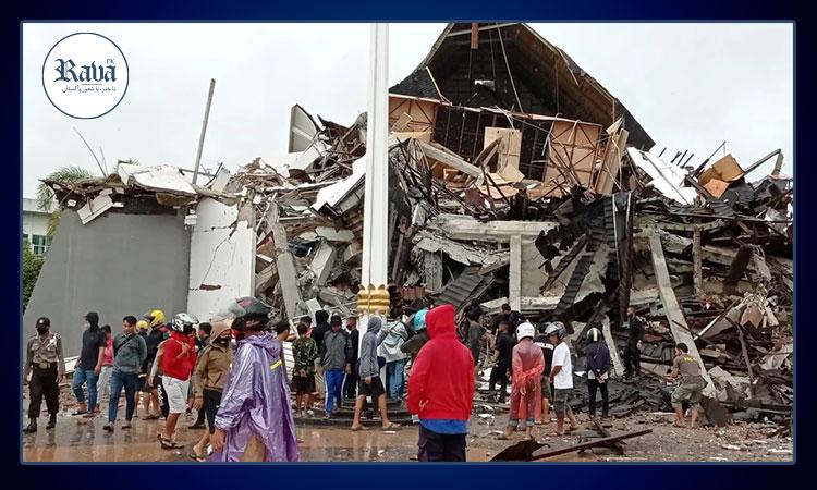 انڈونیشیا: زلزلے سے بڑے پیمانے میں تباہی،35افراد ہلاک