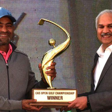 محمد شبیر نے سی اے ایس اوپن گالف چیمپین شپ جیت لی