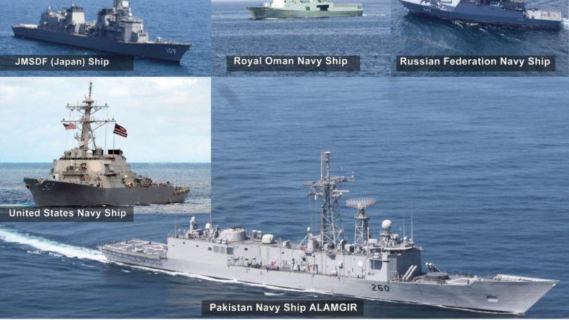 جاپان، عمان، روس اور امریکی بحری افواج کے ساتھ دو طرفہ مشقوں کا انعقاد