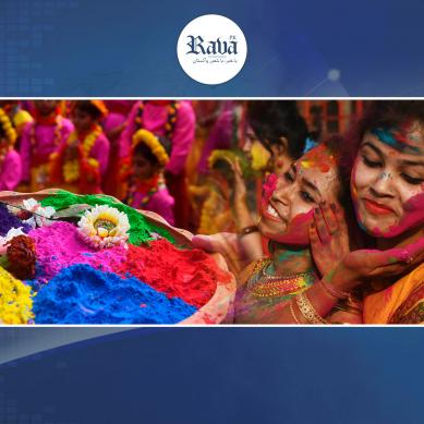 رنگا رنگ تہوار:پاکستان میں بھی ہندو برادری نے ہولی منائی۔۔