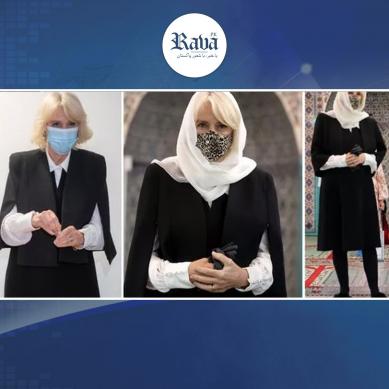 برطانوی شہزادی کی مسجد آمد، سرپر ڈوپٹہ اوڑھے تصاویر وائرل