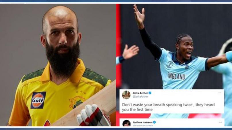 تسلیمہ نسرین کو معین علی کے خلاف ٹویٹ مہنگا پڑگیا