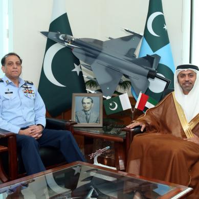 متحدہ عرب امارات کے سفیر کی سربراہ پاک فضائیہ سے ملاقات