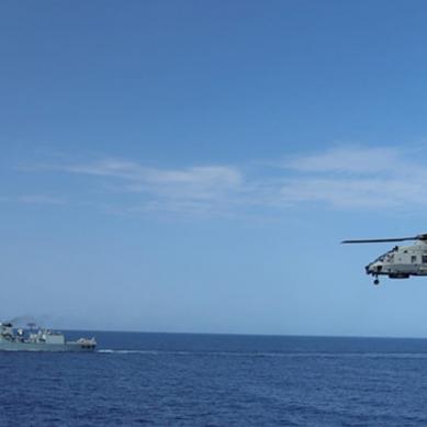 پاک بحریہ کے جہاز پی این ایس سیف کی اطالوی بحری جہاز کے ساتھ مشق