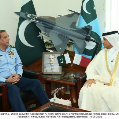 قطر کے سفیر کی  سربراہ پاک فضائیہ سے ملاقات