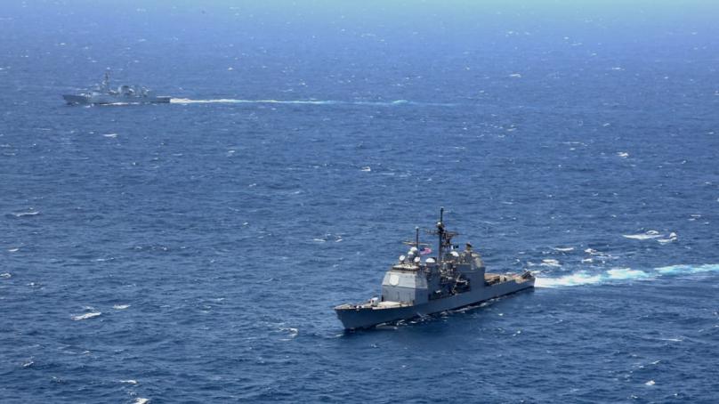 امریکی اور پاک بحریہ کے ساتھ بحری مشقوں کا انعقاد