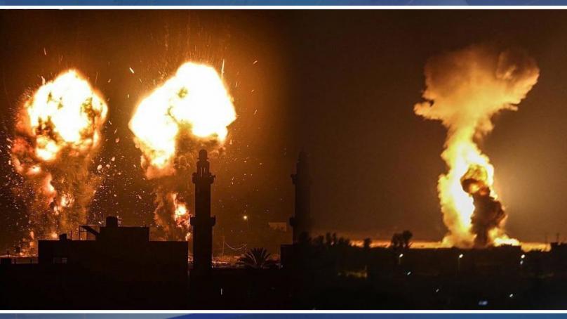 غزہ پر اسرائیلی فضائی حملوں کا دوسرا روز