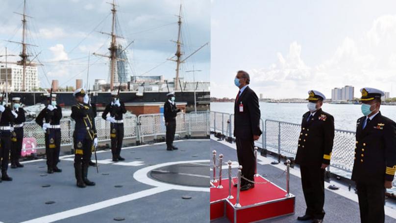 پاک بحریہ کے جہاز پی این ایس ذوالفقار کا برطانیہ کا دورہ