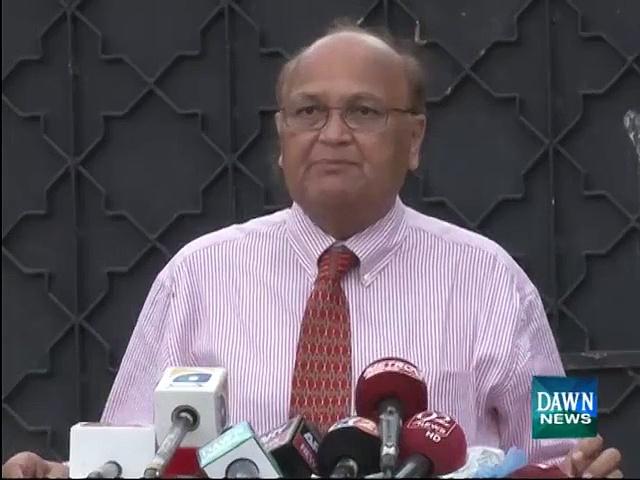 Dr Anjum Rizvi speaks with media about Rashid Godil recovery