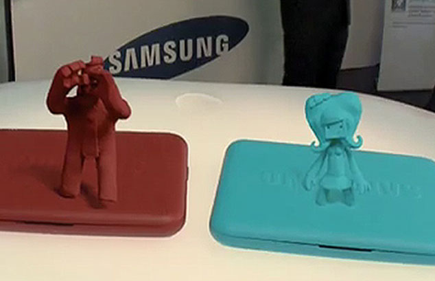 Samsung netbook comes to life. Hologram or Claymation?