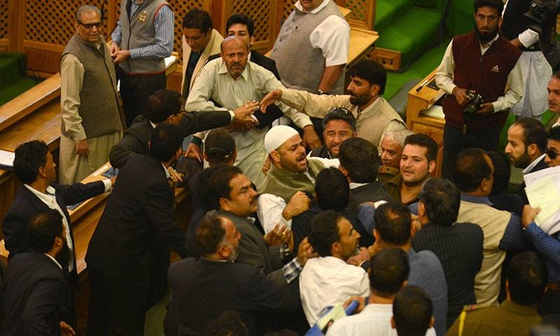 Lawmakers in India-held Kashmir punch colleague for serving beef