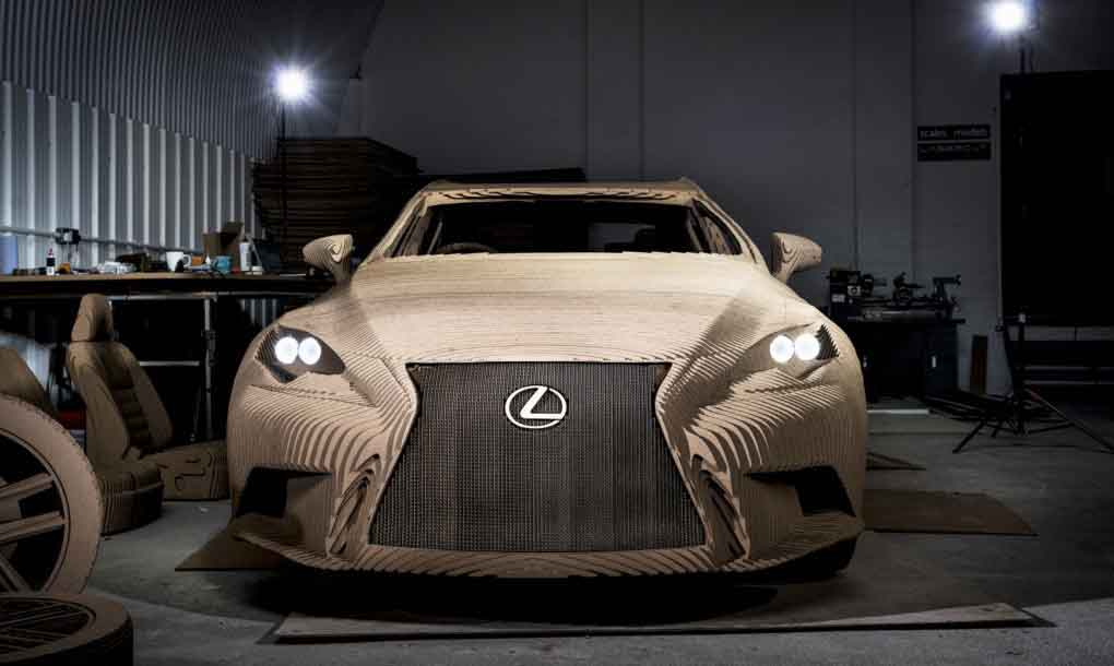 Lexus unveils a car that's made of almost 100pc cardboard