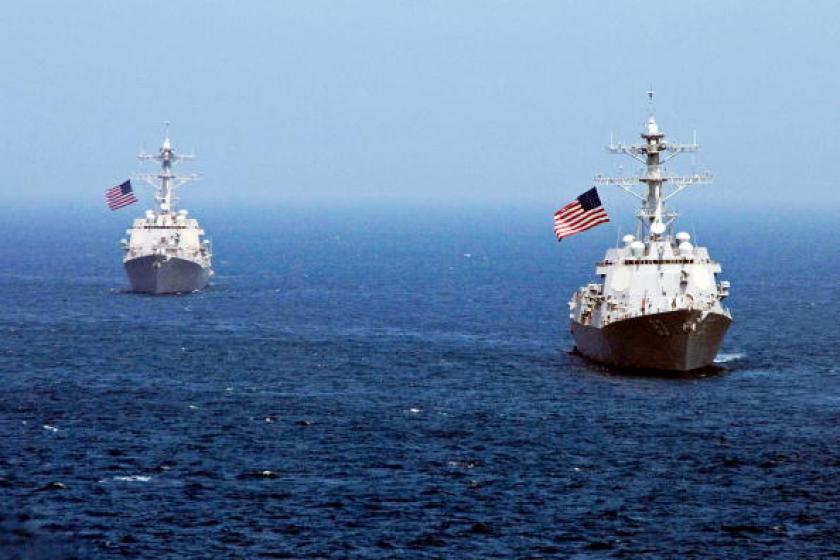 US warship patrols near China