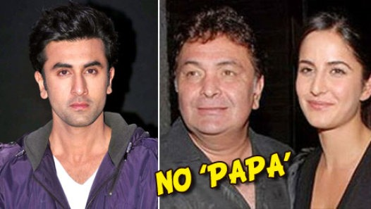 Ranbir Kapoor reacts, Katrina Doesn't Call Rishi 'Papa'