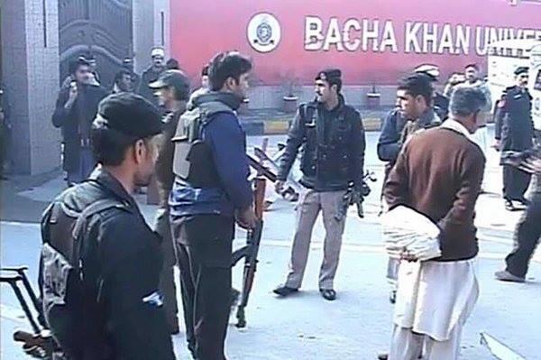 CCTV Footage of Bacha Khan University Attack