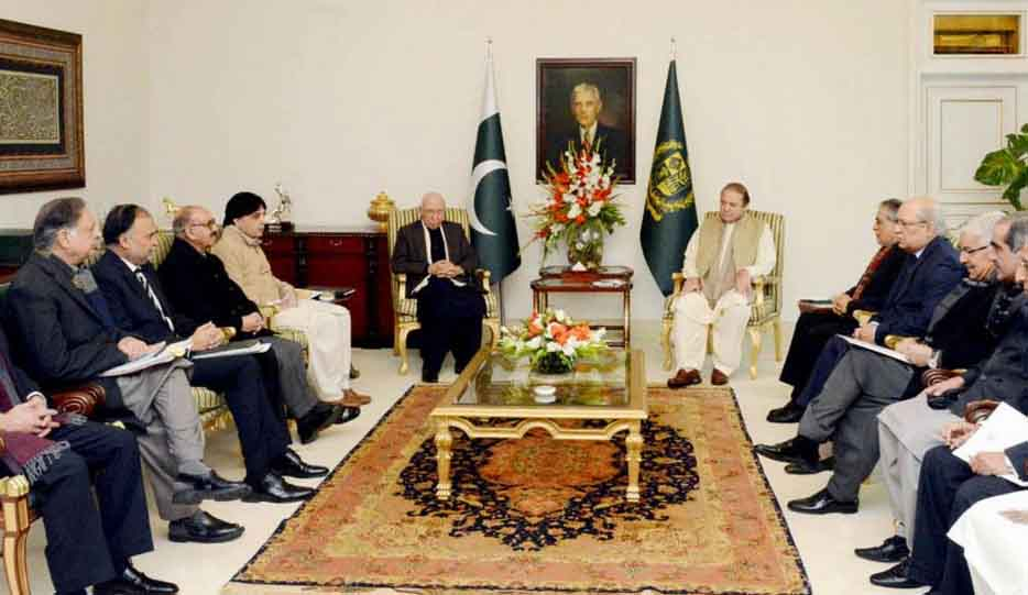 PM Nawaz Chairs Meeting